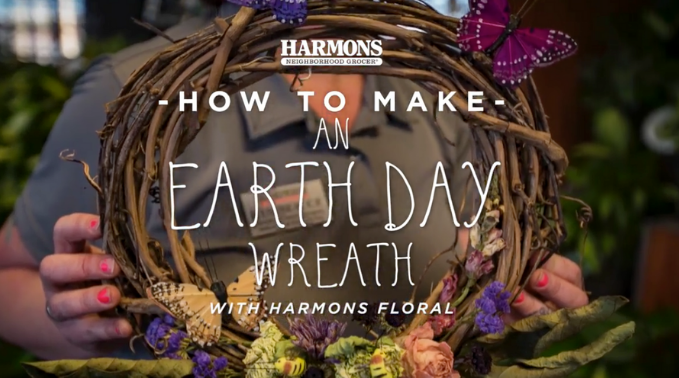 How to Make an Earth Day Wreath with Harmons Floral