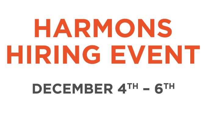 Harmons December Hiring Event