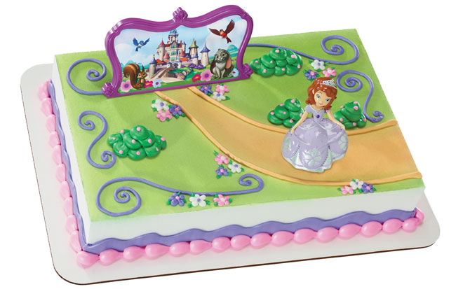 Sofia The First And Castle Cake