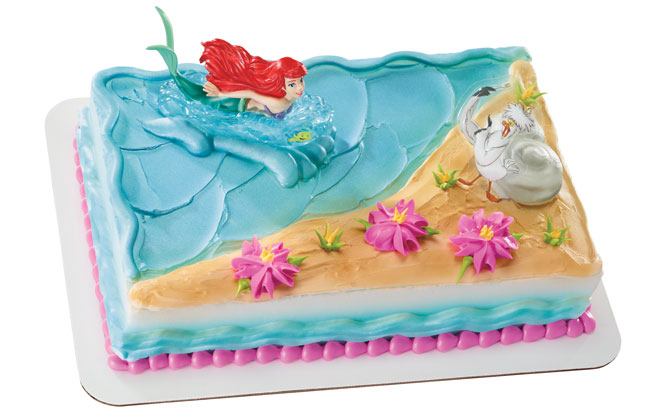 disney little mermaid with ariel and scuttle cake